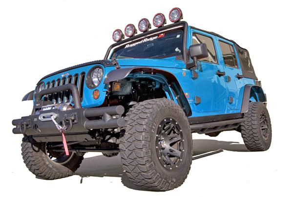 All Terrain Flat Fender Flare Kit 07 18 Jeep Wrangler