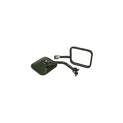 CJ-STYLE SIDE MIRROR KIT, BLACK, 87-95 JEEP WRANGLER (YJ)
