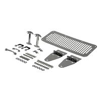 HOOD KIT, STAINLESS STEEL, 76-86 JEEP CJS & 87-95 JEEP WRANGLER