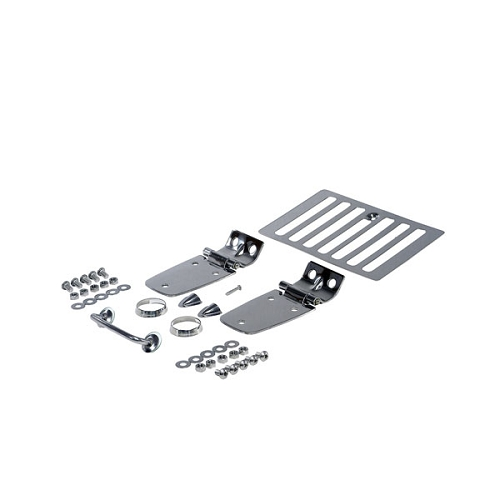 COMPLETE HOOD KIT, STAINLESS STEEL, 98-06 JEEP WRANGLER