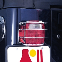 TAIL LIGHT EURO GUARD, STAINLESS STEEL, 76-06 JEEP CJ & WRANGLER
