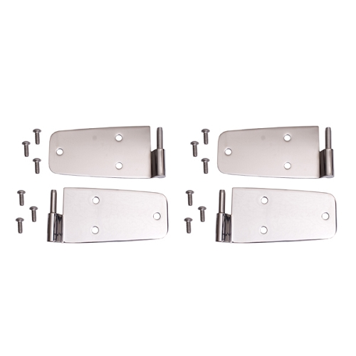 DOOR HINGE KIT, STAINLESS STEEL, 76-93 JEEP CJ & WRANGLER