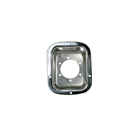 FUEL FILLER BEZEL, STAINLESS STEEL, 76-95 JEEP CJ AND WRANGLER (YJ)