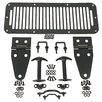 HOOD KIT, BLACK, 76-95 JEEP CJ & WRANGLER