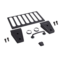HOOD DRESS UP KIT, TEXTURED BLACK, 07-12 JEEP WRANGLER