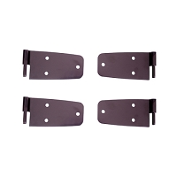 DOOR HINGE KIT, BLACK, 76-86 JEEP CJ MODELS