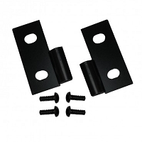 LOWER DOOR HINGE BRACKETS, BLACK, 76-06 JEEP CJ & WRANGLER