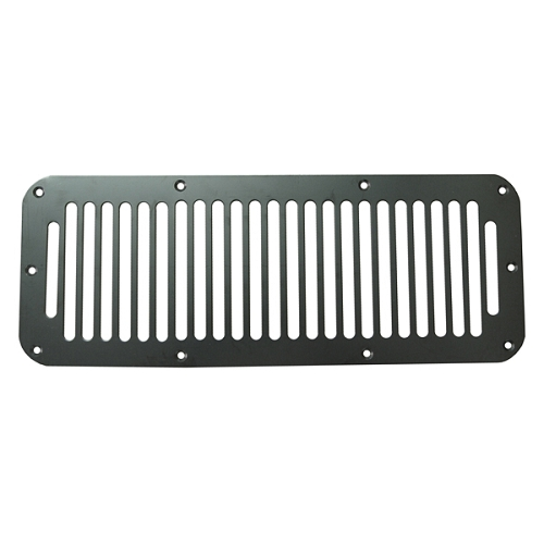 Cowl Vent Cover, Black, 76-95 Jeep CJ & Wrangler