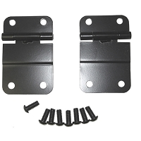 LOWER TAILGATE HINGE SET, BLACK, 76-86 JEEP CJ MODELS