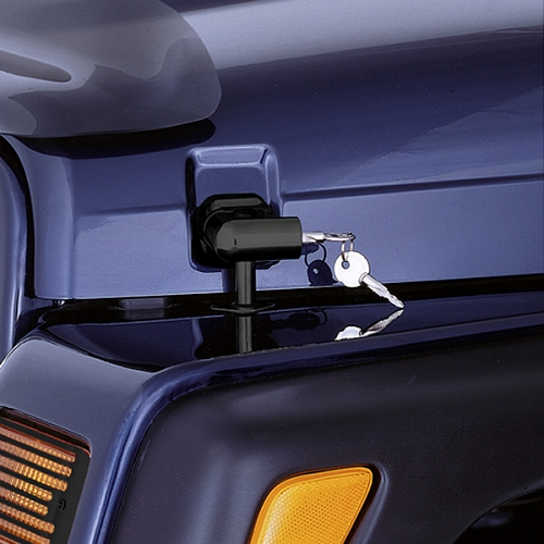 LOCKING HOOD CATCH KIT, 97-06 JEEP WRANGLER