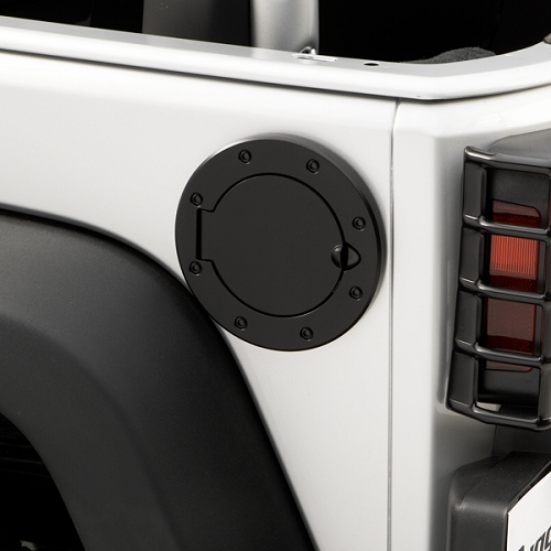 NON-LOCKING GAS CAP DOOR, BLACK, 07-18 JEEP WRANGLER