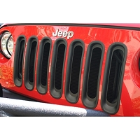 GRILLE INSERTS, BLACK, 07-18 JEEP WRANGLER