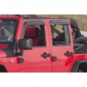 WINDOW RAIN DEFLECTORS, 07-14 JEEP WRANGLER UNLIMITED (JK) 4 DOOR