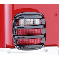 TAIL LIGHT GUARDS, SMOKE, 76-06 JEEP CJ & WRANGLER