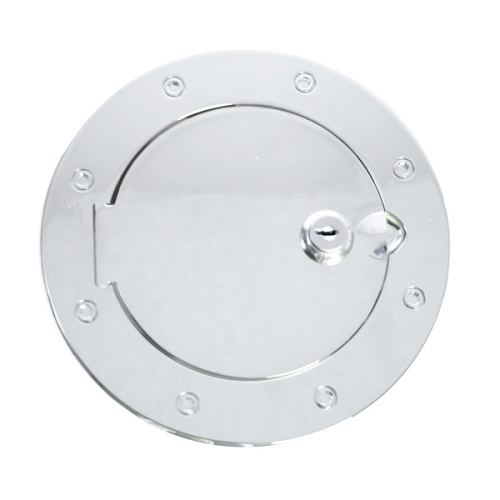 LOCKING GAS CAP DOOR, CHROME, 07-18 JEEP WRANGLER