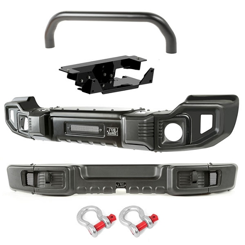 SPARTACUS BUMPERS, F&R, OVER-RIDER/WINCH PLATE; 07-18 WRANGLER JK
