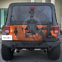 XHD GEN II SWING AND LOCK TIRE CARRIER, 07-17 JEEP WRANGLER (JK)