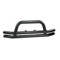 3-INCH DOUBLE TUBE FRONT BUMPER, BLACK, 76-06 JEEP CJ & WRANGLER