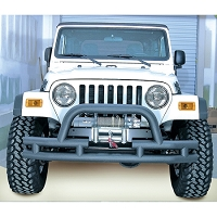 3-INCH DOUBLE TUBE FRONT WINCH BUMPER, HOOP, 76-06 JEEP MODELS