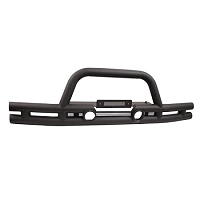 DOUBLE TUBE FRONT WINCH BUMPER, 3 INCH; 07-17 JEEP WRANGLER JK