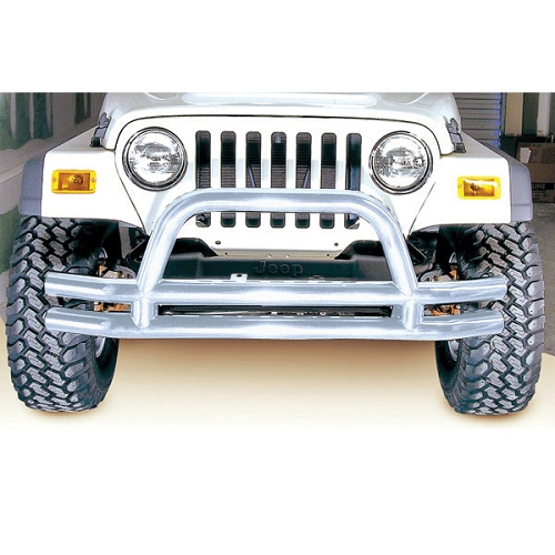 3-In Double Tube Front Bumper, SS, 76-06 Models