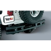 3-Inch Double Tube Rear Bumper w/ Hitch 87-06 Wrangler  (1) (1)
