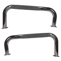 3-INCH ROUND TUBE SIDE STEPS, STAINLESS STEEL, 76-83 JEEP CJ7