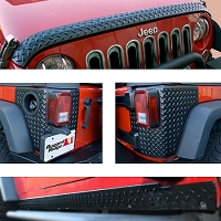 5-PIECE BODY ARMOR GUARD KIT, 07-17 JEEP WRANGLER 2 DOOR (JK)