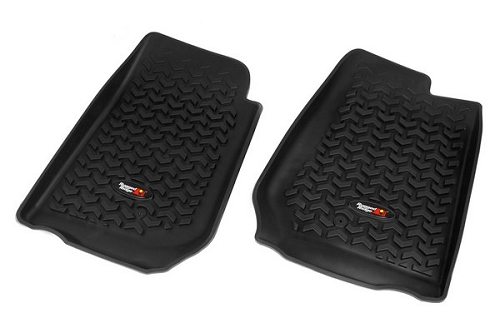 FLOOR LINERS, FRONT, BLACK; 07-15 JEEP WRANGLER/UNLIMITED JK RHD