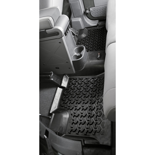 Floor Liner, Rear, Black, 07-15 Wrangler 4 door Unl(JK)