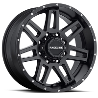 RACELINE INJECTOR BLACK 20X9 PCD  5x114.3	5x127  OFFSET 0	C/BORE 78.1LOAD 1136K9