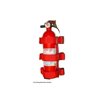 SPORT BAR FIRE EXTINGUISHER HOLDER, RED, 55-17 JEEP CJ AND WRANGLER