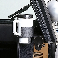 CUP HOLDER WINDSHIELD MOUNT; 76-95 JEEP CJ/WRANGLER YJ