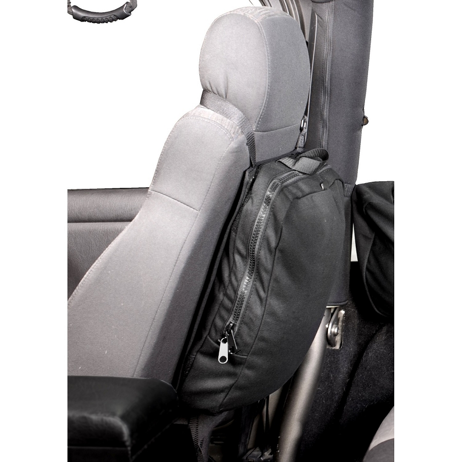 SEAT BACK TRAIL BAG; 76-15 JEEP CJ/WRANGLER YJ/TJ/JK/JL