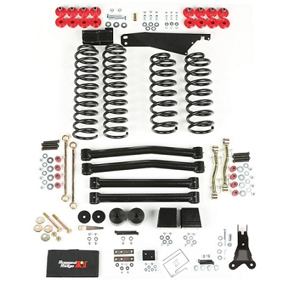 ORV 4-INCH LIFT KIT WITH OUT SHOCKS, 07-14 JEEP WRANGLER (JK)