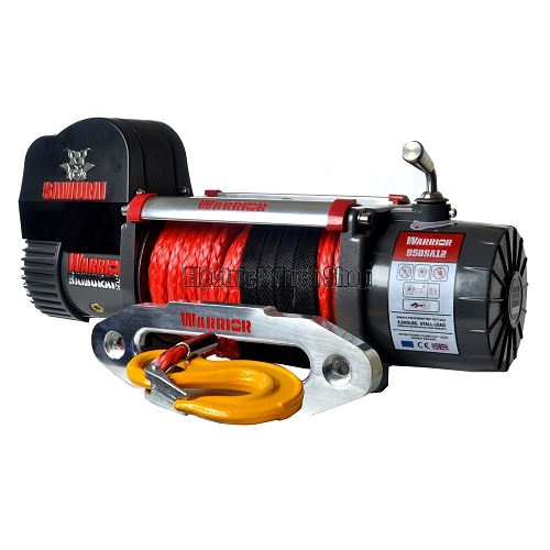 WARRIOR SAMURAI S9500 12V WINCH - ARMORTEK SYNTHETIC ROPE