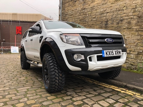 FORD RANGER 2012/15 FENDERS GLOSS BLACK