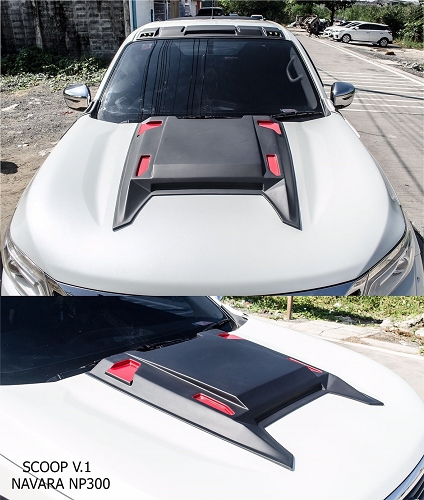 NISSAN NP300 BONNET SCOOP BLACK