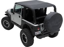 EXTENDED BRIEF TOP WATERPROOF SMITTYBILT - JEEP WRANGLER TJ