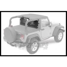 OUTBACK WIND BREAKER WITH WINDOW BLACK SMITTYBILT - JEEP WRANGLER TJ/yj