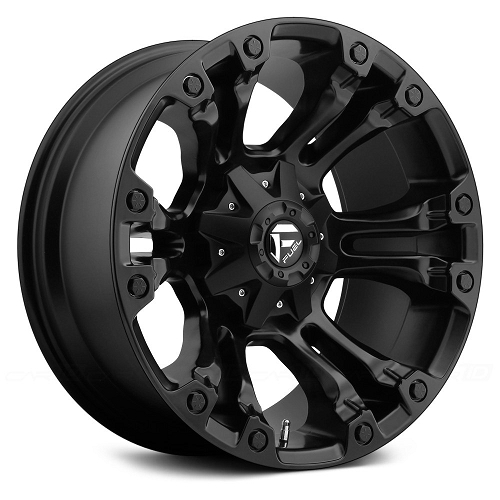FUEL VAPOR 18x9 BLACK WHEEL