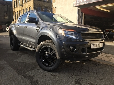 X-TREME WHEEL ARCH KIT IN WILDTRAK GREY FOR THE RANGER 2016 ON DOUBLE CAB