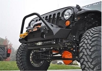 FRONT STEEL BUMPER POISON SPYDER BRAWLER LIGHT WITH BAR - JEEP WRANGLER JK