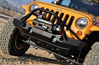 FRONT STEEL BUMPER POISON SPYDER BRAWLER MIDWITH - JEEP WRANGLER JK