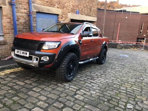 FORD RANGER 2012-2015 FENDER FLARES WILDTRAK GRAY