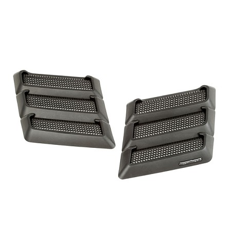 PERFORMANCE HOOD VENTS, BLACK; 07-17 JEEP WRANGLER JK